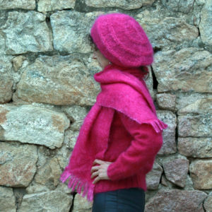 Boutique Mohair Tricot Main Sur mesure Pull Venetie Rose Thyrien