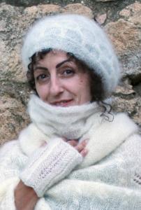 Beret Nid abeille Mohair Soie