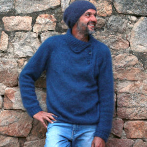 Boutique Mohair Tricot Main Sur mesure Bonnet Filon Ardoise