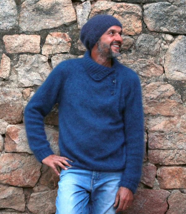 Boutique Mohair Tricot Main Sur mesure Bonnet Filon Ardoise