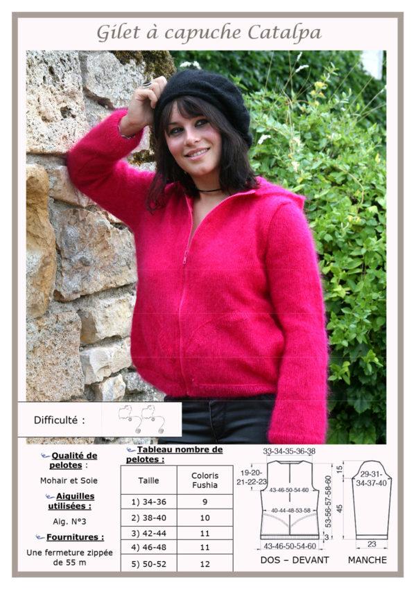 Fiche Kit Tricot Gilet Capuche Catalpa