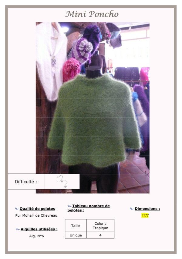 Fiche Kit Tricot Poncho Mini