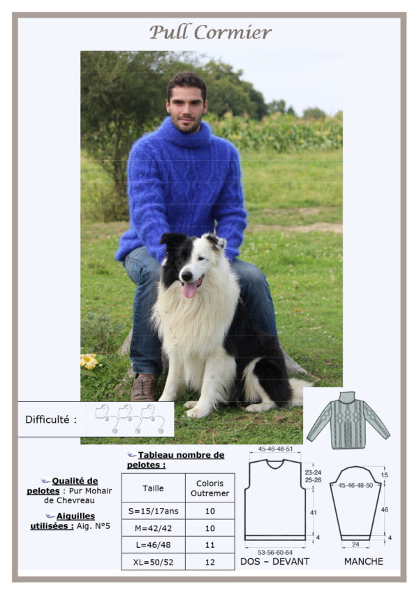 Fiche Kit Tricot Pull Cormier