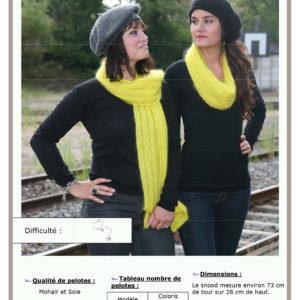 Fiche Kit Tricot Snood Écharpe Difficulté
