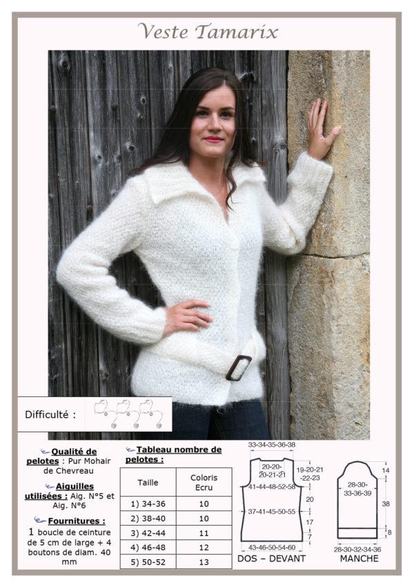 Fiche Kit Tricot Veste Tamarix